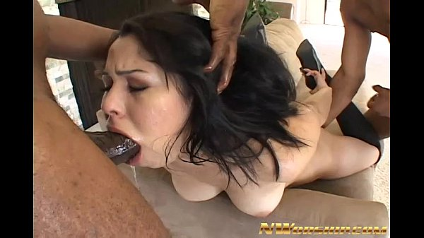 young girl licking balls and sucking black cocks
