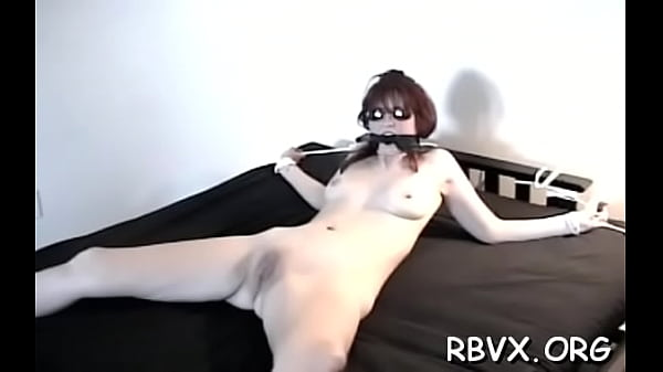 Glorious lady is playing with a huge vibrator