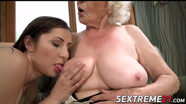 Mature lesbian Norma B gives hot fingering to hot young babe