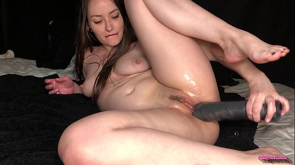 AdalynnX - Huge Dildo Deep Belly Bulge 1