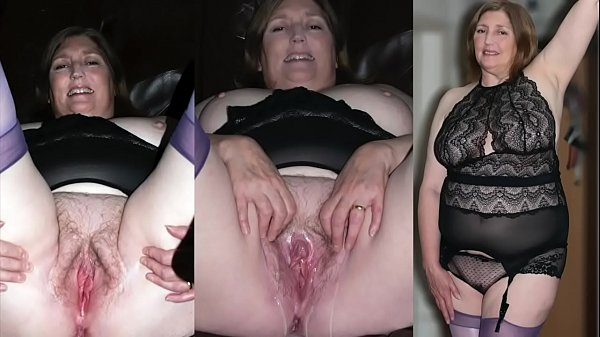 BBW 58YR OLD MARRIED GRANNY IN STOCKINGS DOES HERSELF WITH HITACHI WAND - LOUD ORGASM
