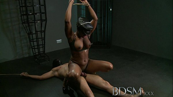 BDSM XXX Caged slave boy gets hardcore treatment from his powerful and horny Mistress Thumb