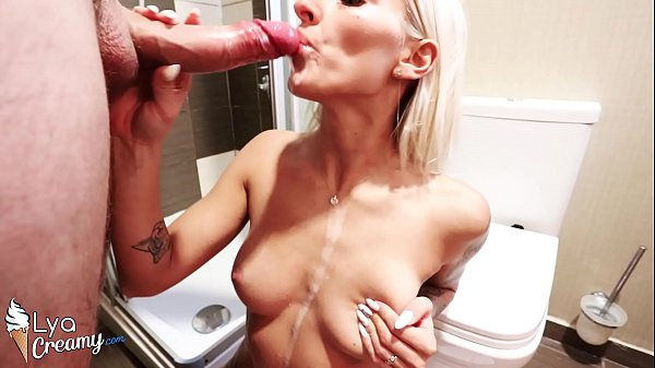 Sexy Girl Blowjob Huge Cock and Hard Rough Sex in the Shower