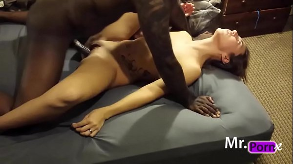 Husband Films Wife with BBC Interracial Amateur Sex