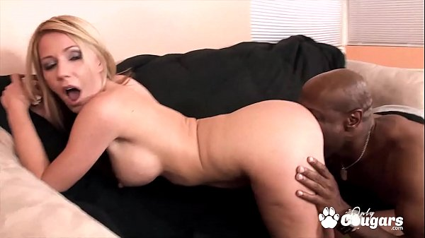 Horny MILF Ashley Winters Lets A Black Guy Eat Her Ass