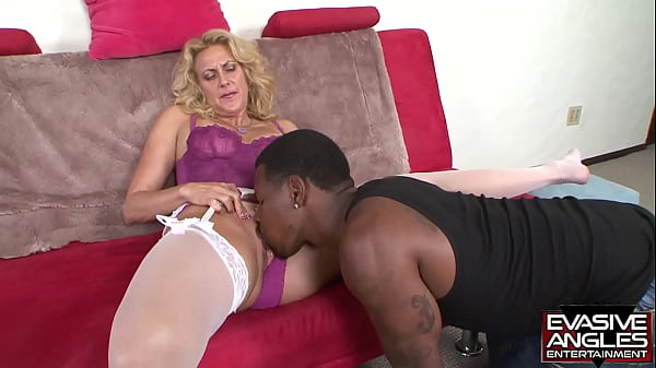 EVASIVE ANGLES He starts out by giving her head like a sweet gentleman, and soon he's seeing just how far he can wedge his big dick inside of her tight white granny hole.