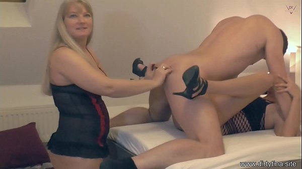 Young cock for the aunt and the stepmother