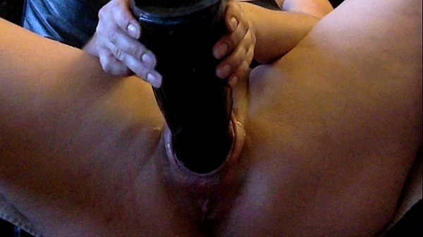 Wrecking my pussy with huge toys