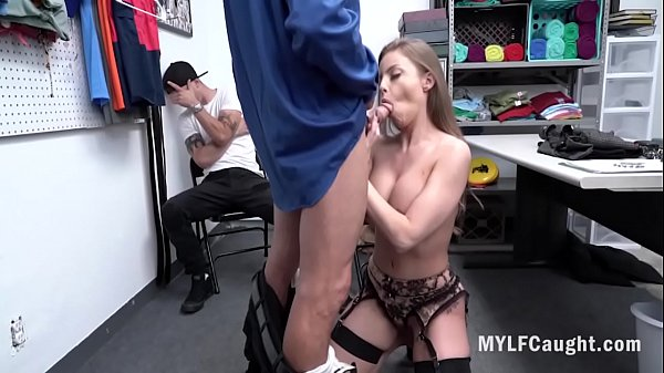 MILF Fucks Cop In Front Of Son- Britney Amber