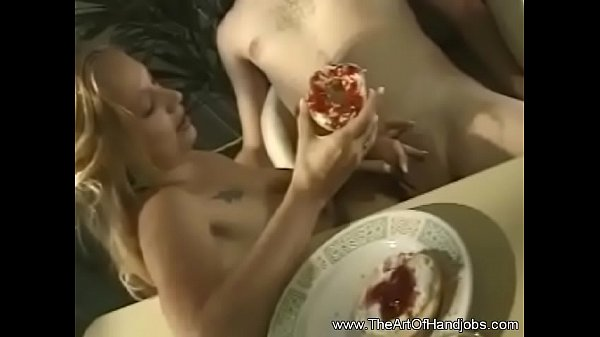 Jerking Off Dick In The Kitchen
