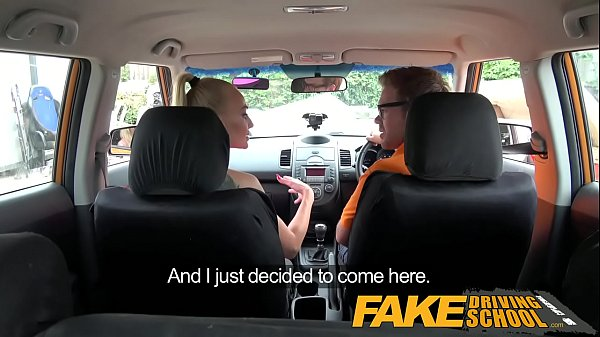 Fake Driving School Big Tits babe Fucks her instructor to pass her test  thumbnail