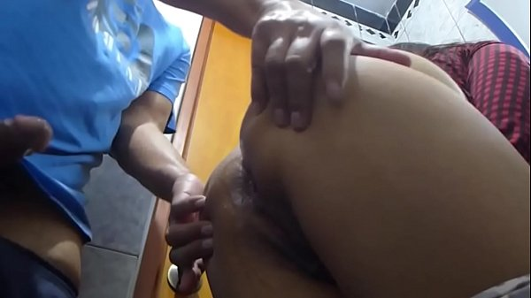 anal - Fucking her ass in the bathroom till he cum