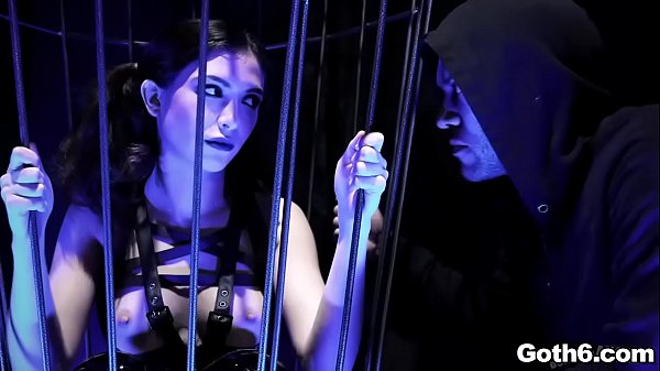 Emo goth ANAL whore Jane Wilde shows up in her sexy leather outfit as she dances inside a cage.She is a cock slut and loves it in her pussy and ass