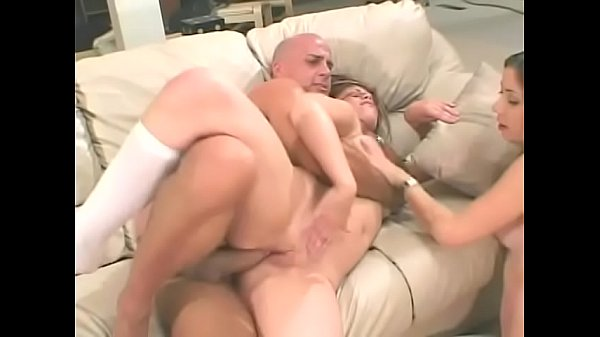 Two y. Gia Paloma and Lola Dita snowball cum after taking cock in both the cunt and ass