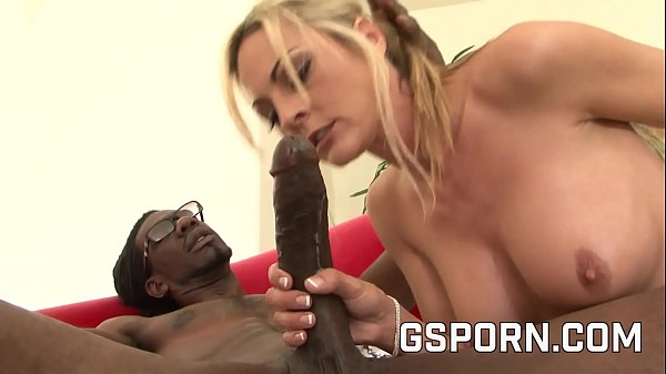 The busty blonde Sindy Large have a BBC trainer