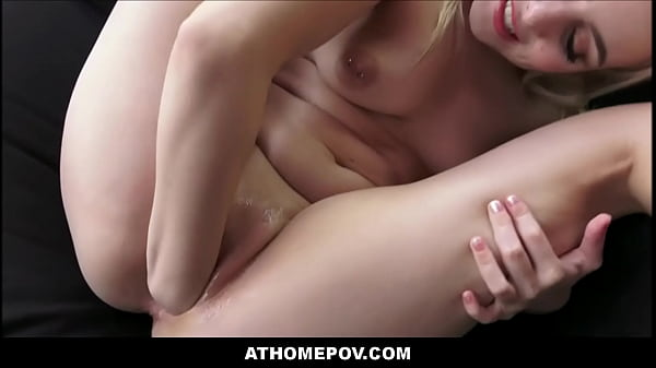 Quarantined Hot Blonde Teen Aria Banks Fisting Self And Fucked To Orgasm POV