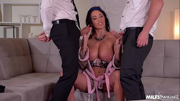 Two Pilots Nail the Gorgeous International Stewardess Anissa Kate Thumb