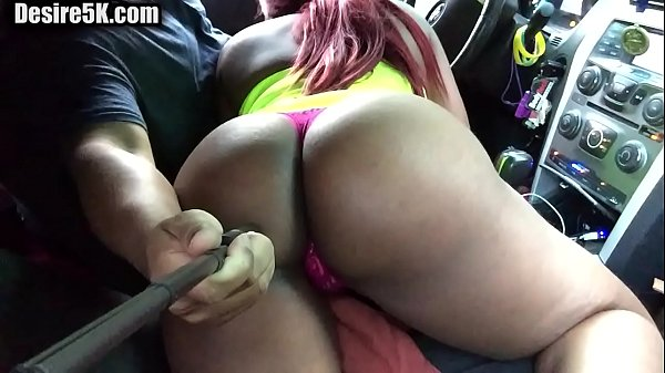College woman giving blowjob in the car
