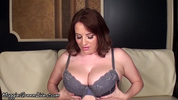 Busty Natural Maggie Green Sucks Cock for Cum in Mouth!