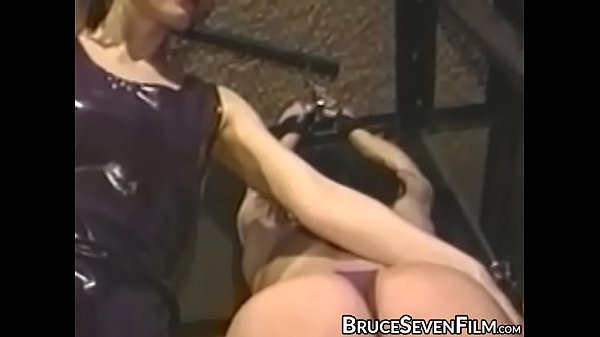 Lesbian babes spanked and tormented in vintage session Thumb