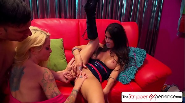 The Stripper Experience - Jessica Jaymes & Helly Hellfire fucking a big dick, big boobs and big booty Thumb