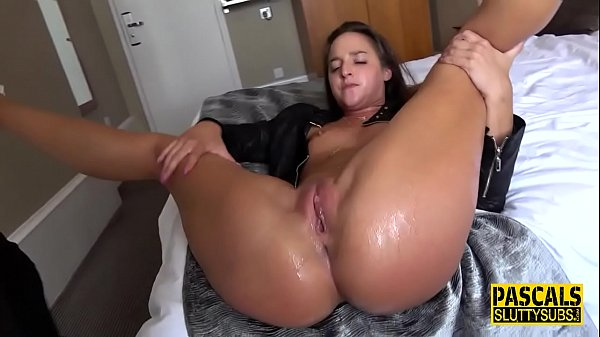 Squirting bound bdsm sub