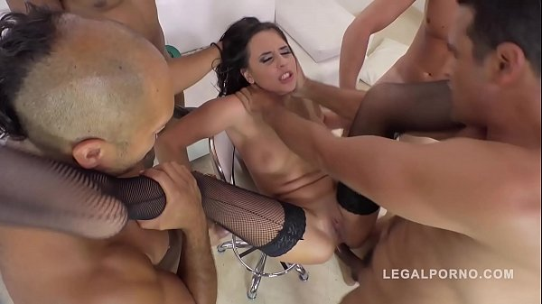 Hardcore interracial DAP gangbang makes slutty ...