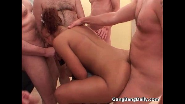Brutal Gang Bang Session With Sexy Ebony