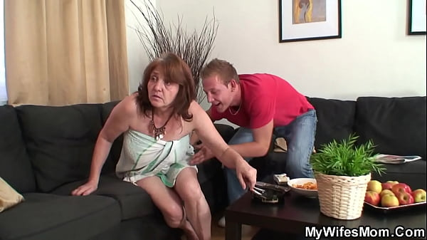 She caught busty motherinlaw riding his cock