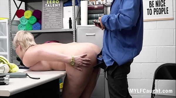 Blonde Busty MILF Caught Stealing And Punished Fucked- Ryan Keely
