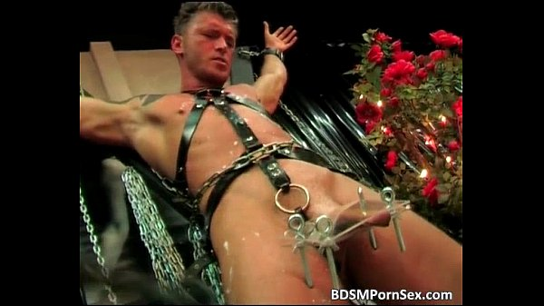 Male slave is tied in chains in this Thumb