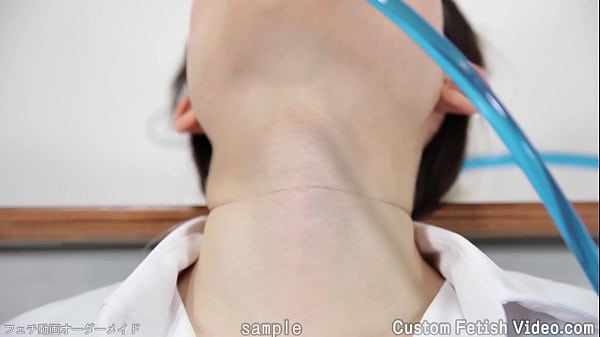 The movement of the throat of a woman drinking water Thumb