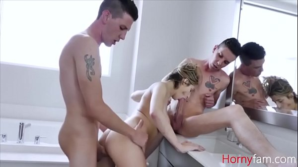 Brothers Take Advantage Of Sister In Shower- Sarah Bella Thumb