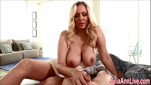 Sexy Milf Julia Ann Gives HandJob To Wake Him Up!