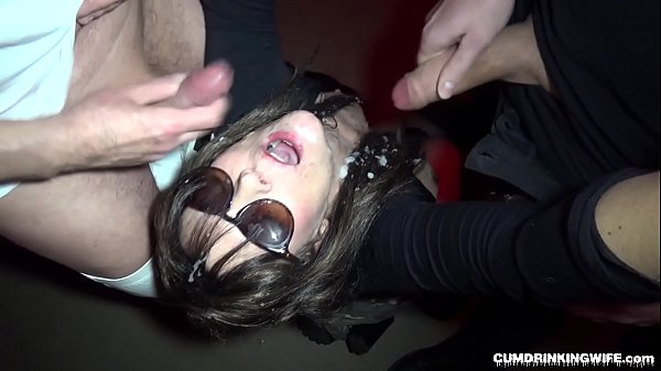 Slutwife gets 30 loads in the basement of a club