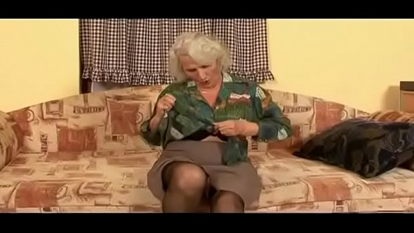 She might be so decrepit that she can't leave the house any more, but grey haired granny is still a horny old bitch
