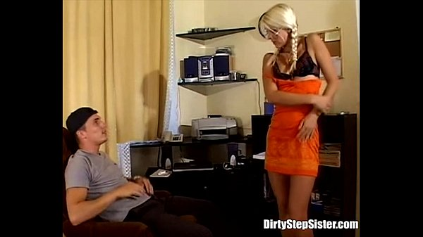 Blonde Stepsis Riding Stepbro's Hard Cock