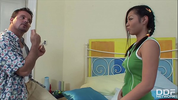 Lollipop loving Asian teenager Courtney rides b...