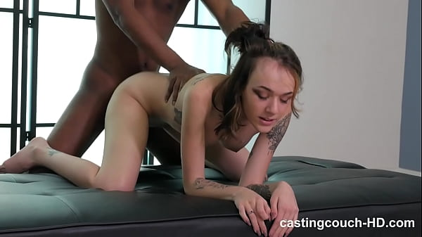 Nasty tattooed club chick takes on her first mo...