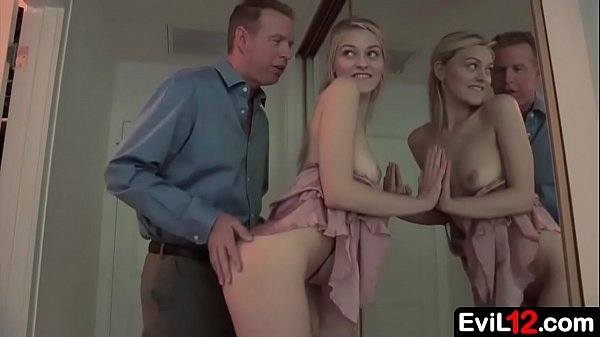 Teen stepdaughter wears her m.'s sexy dress and...