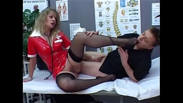 Hot fetish nurse at work