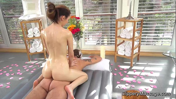 slippery nuru massage with skinny teen