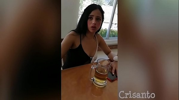 She didn't want to but with a few beers she goes crazy