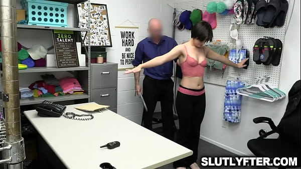 Horny security guard whips out his cock and made Angeline Red suck him deepthroat Thumb