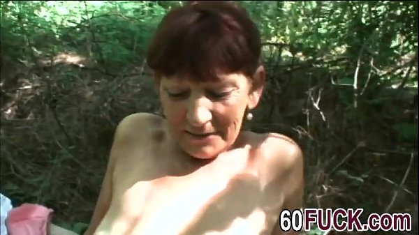 Mature woman over 60 loves fucking outdoors  thumbnail