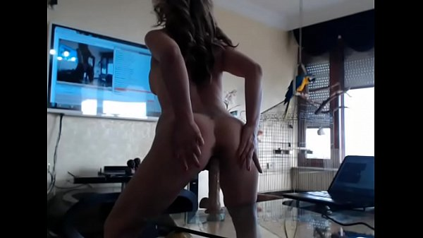 Hot Milf Bounces on Dildo on Webcam - www.hotcamgirls.mobi