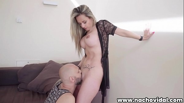 Busty MILF Helena Kramer joins Nacho Vidal for a date. Nacho greets the woman eating her pussy, and she returns the oral favor with a blowjob. Nacho fucks her from behind, touching her clit