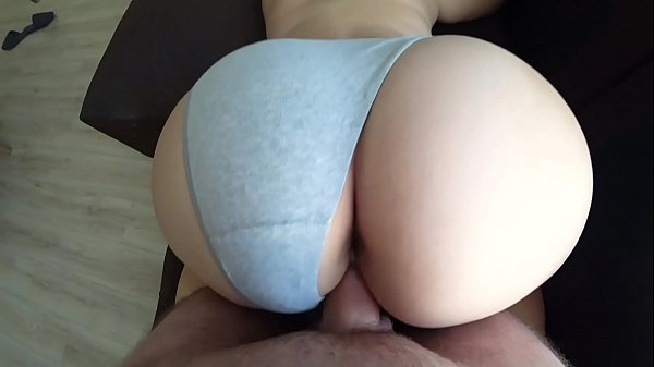 Doggy Style through panties with a girl with a fat ass