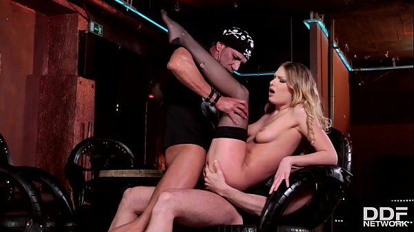 Backstage double penetration makes fetish babe Lucy Heart climax real hard