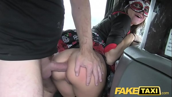Fake Taxi girl in mask gets fucked in the ass after bf leaves her Thumb